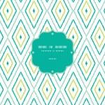 grüne Ikat Diamanten Rand nahtlose Muster Hintergrund — Stockvektor  #29065065