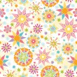 Colorful Christmas Stars Seamless Pattern Background — Vettoriali Stock