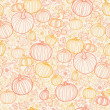Stockvektor : Thanksgiving line art pumkins seamless pattern background