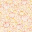 感恩节线艺术 pumkins 无缝图案背景 — 图库矢量图片