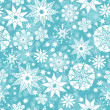 Stock Vector: Decorative Snowflake Frost Seamless Pattern Background