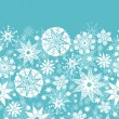 Decorative Snowflake Frost Horizontal Seamless Pattern Background — Stock Vector