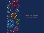 Праздничные фейерверки кадр фоне горизонтали бесшовный фон — Cтоковый вектор