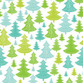 Holiday Christmas trees seamless pattern background — Stock Vector
