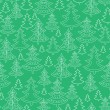 Doodle Christmas trees seamless pattern background — Stock Vector