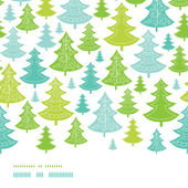 Holiday Christmas trees horizontal seamless pattern background — Stockvektor