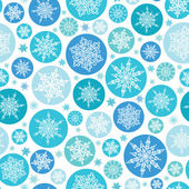 Round Snowflakes Seamless Pattern Background — Stock Vector