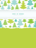 Holiday Christmas trees vertical torn frame seamless pattern background — Stockvektor