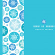 Round Snowflakes Horizontal Seamless Pattern Background — Stock Vector