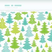 Horizontal de árboles de navidad vacaciones rasgado de fondo transparente — Vector de stock