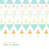 Abstract ikat triangles stripes horizontal seamless pattern background — Stock Vector