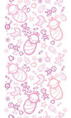 Baby girls horizontal seamless pattern background — Stock Vector