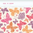 Floral butterflies frame horizontal seamless pattern background — Stock Vector