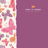 Floral butterflies frame square seamless pattern background — Stock Vector