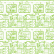 Doodle city streets seamless pattern background — Stock Vector