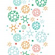 colorful molecules vertical seamless pattern background — Stock Vector