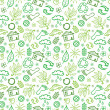 Ecology symbols seamless pattern background — Stock Vector
