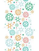Kleurrijke moleculen verticale naadloze patroon achtergrond — Stockvector