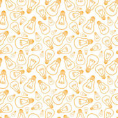 Light bulbs line art seamless pattern background — Vettoriale Stock