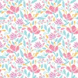 Emboridered garden seamless pattern background — 图库矢量图片