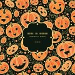 Halloween pumpkins frame seamless pattern background — Stock Vector #32500553