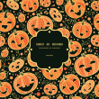 Halloween pumpkins frame seamless pattern background — Imagen vectorial