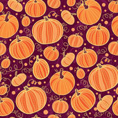 Thanksgiving pumpkins seamless pattern background — Stock Vector