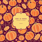 Thanksgiving pumpkins frame seamless pattern background — Stock Vector