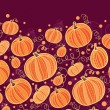 Thanksgiving pumpkins horizontal border seamless pattern background — Imagen vectorial