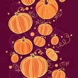 Thanksgiving pumpkins vertical border seamless pattern background — Stock Vector