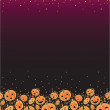 Halloween pumpkins vertical decor background — Stock Vector