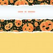 Halloween pumpkins vertical torn frame decor seamless pattern background — Stock Vector