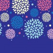 Colorful bursts horizontal seamless pattern background border — ベクター素材ストック