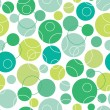 Abstract green circles seamless pattern background — Stock Vector