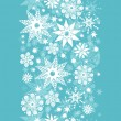 Decorative Snowflake Frost Vertical Seamless Pattern Background — Stock Vector