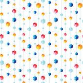 Abstracto colgante joyas patrón rayado transparente fondo — Vector de stock