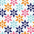 Abstract colorful stars seamless pattern background — Grafika wektorowa