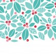 Christmas holly berries horizontal seamless pattern background — Stock vektor