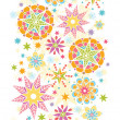Colorful Christmas Stars Vertical Seamless Pattern Background — Imagen vectorial