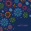 Holiday fireworks corner decor pattern background — Stock Vector