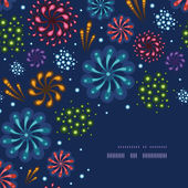 Holiday fireworks corner decor pattern background — Vetorial Stock
