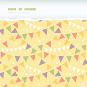 Party Decorations Bunting Horizontal Torn Seamless Pattern Background — Stock Vector