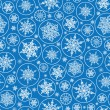 Falling Snowflakes Seamless Pattern Background — Stock Vector