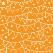 Orange Party Bunting Seamless Pattern Background — Stock Vector #35369441