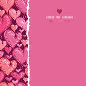 красный день влюбленных сердца квадратных войной бесшовный фон фон — Cтоковый вектор