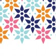Abstract colorful stars seamless pattern background horizontal border — Imagen vectorial