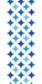 Blue marble tiles vertical border seamless pattern background — Stock Vector