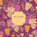 Sweet grape vines frame seamless pattern background — Stock Vector #37558225