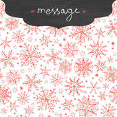 Chalkboard snowflakes frame border seamless pattern background — Stock Vector