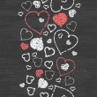 Chalkboard art hearts vertical border seamless pattern background — Stock Vector #37800035